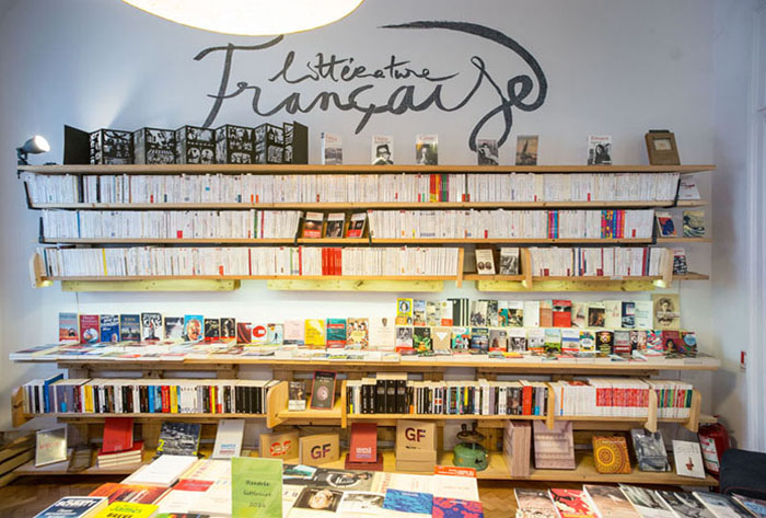 bibliotecă franceză