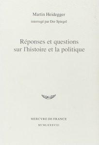 Couverture d'ouvrage: Réponses et questions sur l'histoire et la politique