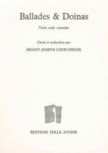 Book Cover: Ballades et Doïnas : Poésie orale roumaine